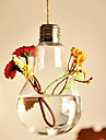 """5.5 """"H Creative forme d'ampoule suspendue vase en verre"""