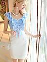 Pink Doll femei Elegant OL mâneci Slăbire Dress