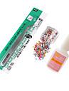 Nail Art Set (10 g Lim, 1xNipper, 1xHollow Hjärtformade PALJETT Nail Art Decoration)