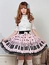 Pink Pretty Lolita Key och katt Princess Kawaii Skirt Lovely Cosplay
