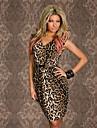 TOPRO femei sexy Vintage Animal Leopard Print Rochie de vara fără mâneci rochie casual 9048