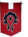 Mer accessoarer Inspirerad av WOW Cosplay Animé/ Videospel Cosplay Accessoarer Flagga Röd Terylene Man