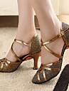 Chaussures de danse(Or) -Personnalisables-Talon Personnalisé-Similicuir Paillette Brillante-Moderne Salon