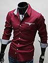 Glory skjortkrage långärmad Classic Inside Plaid Dekoration skjorta