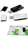 SIYOTEAM SY-368 2-en-1 USB 2.0 Lecteur de cartes SD / carte MicroSD (couleur aléatoire)