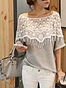 Lace ORG femei Cut Out Batwing Sleeve T-Shirt