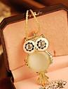 Femei coreeană Owl colier
