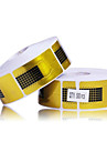500PCS Golden Horseshoe Motif Nail Art Forms pour l'acrylique et le gel UV Conseils
