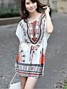 Runda de vară guler Silk Plus Dimensiune rochie pentru femei
