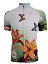 Bouger® Maillot de Cyclisme Femme Manches courtes Vélo Respirable / Séchage rapide Maillot / Hauts/Tops Spandex / Polyester Eté