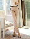 stil ol solid pantaloni lungi Slim femei