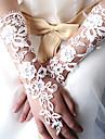 nunta dantelă degete lungime cot / mănuși de ocazie cu broderie