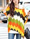 Saiwei Boemia comun Batwing Sleeve Loose Fit Round manse șifon T-shirt femei