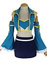 Inspirerad av Fairy Tail Lucy Heartfilia Animé Cosplay Kostymer/Dräkter cosplay Suits Lappverk Svart / Blå Väst / Kjol / BH / Ärmar