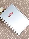 En alliage d'aluminium carré de beurre Scraper Avec dents de scie, 12x9.5x0.1cm
