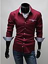 MEN - Cămăși Casual ( Bumbac / Amestec Bumbac ) Informal Guler cămașă - Mânecă Lungă