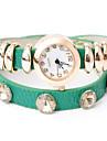 vågar u mode diamonded flätad justerbar klocka