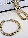 westernrain för män Dubais stil vintage-inspirerad rostfritt stål halsband armband