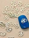 200st älskar hjärtadesign bit metall nail art dekoration