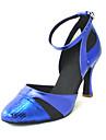 PU supérieure chaussures de danse latine talons des femmes personnalisées avec fermeture à glissière