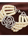 lyckliga docka kvinnors rosenmönster pärla armband