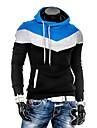 Zian® Men's Hoodie Spell Color Fashion Slim Fleece Casual Pullover Hoodie O