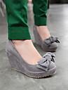plate-forme pompes talon compensé en daim avec des chaussures bowknot femmes (plus de couleurs)