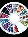 600st 12colours stjärnform akryl strass hjul nagel konst dekoration