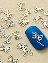 200st härliga bowtie designen skiva metall nagel konst dekoration