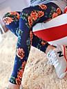 Femei de moda colorate pantaloni Camellia Flori de imprimare legging