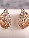 L'or Lucky Doll femmes détouré Boucles d'oreilles diamant