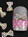 10pcs cristal ab strass perles Nœud papillon alliage 3d nail art décoration