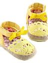Cotton Flicka Flat Heel Ankle Strap Sandals med Bowknot och Magic Tap Skor