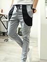 Men's Casual Long Contrast Color Skinny Sweatpants