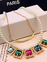 déclaration miki carré collier de pierres précieuses perles