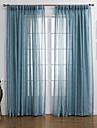 modern två paneler helt blå vardagsrum linne polyester blanda skira gardiner nyanser