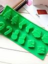 snögubbe julgran trollspö strumpor tårta choklad formar, silikon 22,6 × 10 × 1,5 cm (8,9 × 3,9 × 0,6 tum)
