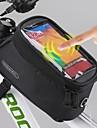 ROSWHEEL® Cykelväska 1.5LMobilväska Väska till cykelramen Vattentät Pekskärm Cykelväska Polyester PyöräilylaukkuSamsung Galaxy S4 Samsung