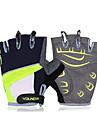 gants de vélo unisexe koraman doigts pad vert protection anti-dérapage des gants moitié noire de doigt
