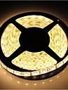 zdm ™ de 5m étanche 72W 300 * 5050 smd 4800lm lumière blanche chaude lampe LED de bande (DC12V)