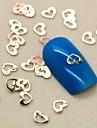 200pcs belle forme de coeur creux clou tranche de métal de décoration d'art