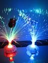 Coway Rose Bouteille de fibre optique fleur colorée LED Night Light (couleur aléatoire)