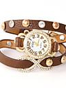 oser u pu quartz analogique diamantée montre bracelet des femmes