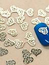 Forme de coeur 200pcs creuse en dentelle nail art tranche de décoration en métal