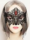 Mask Cosplay Festival/Högtid Halloween Kostymer Röd / svart Enfärgat / Spets Mask Halloween / Karnival Unisex Spets / Konstädelstenar