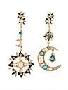 JoJo & Lin Sun Moon Star Motif Boucles d'oreilles