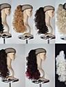 Utmärkt kvalitet syntetisk 18 tums Long Curly Claw hästsvans peruk - 7 färger tillgängliga