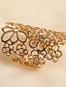 Mode de Lucky Star femmes découpé fleur anneau épais