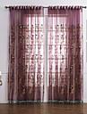 Två paneler Fönster Behandling Nyklassisistisk Sovrum Polyester Material Skira Gardiner Shades Hem-dekoration For Fönster