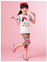 curcubeu de moda jambiere dungi de vară pentru fetițe, copii din bumbac minunat jambiere imprimare aleator